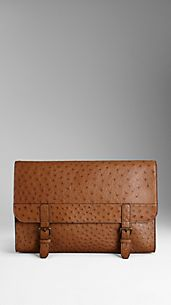 Ostrich Leather Document Case