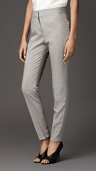 Travel Tailoring Virgin Wool Pencil Trousers