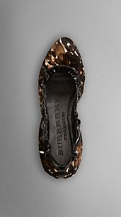Animal Print Calfskin Ballerinas