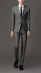 Slim Fit Wool Mohair Blend Suit
