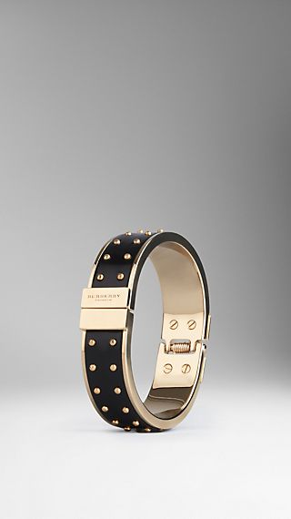 Stud Detail Leather Bangle