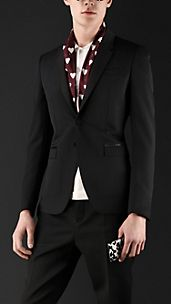 Tailored Wool Ottoman Tuxedo Jacket