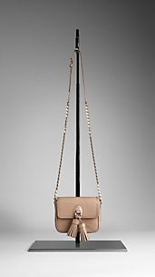 London Leather Tassel Crossbody Bag