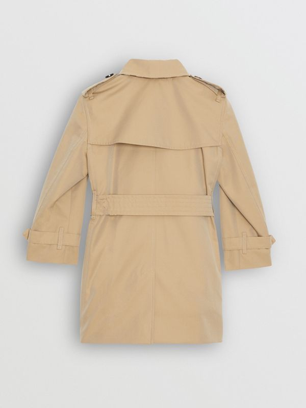 Cotton Gabardine Trench Coat in Honey | Burberry Singapore - cell image 2