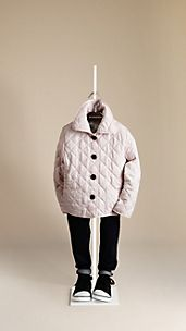 Check Lined Quilted Jacket
