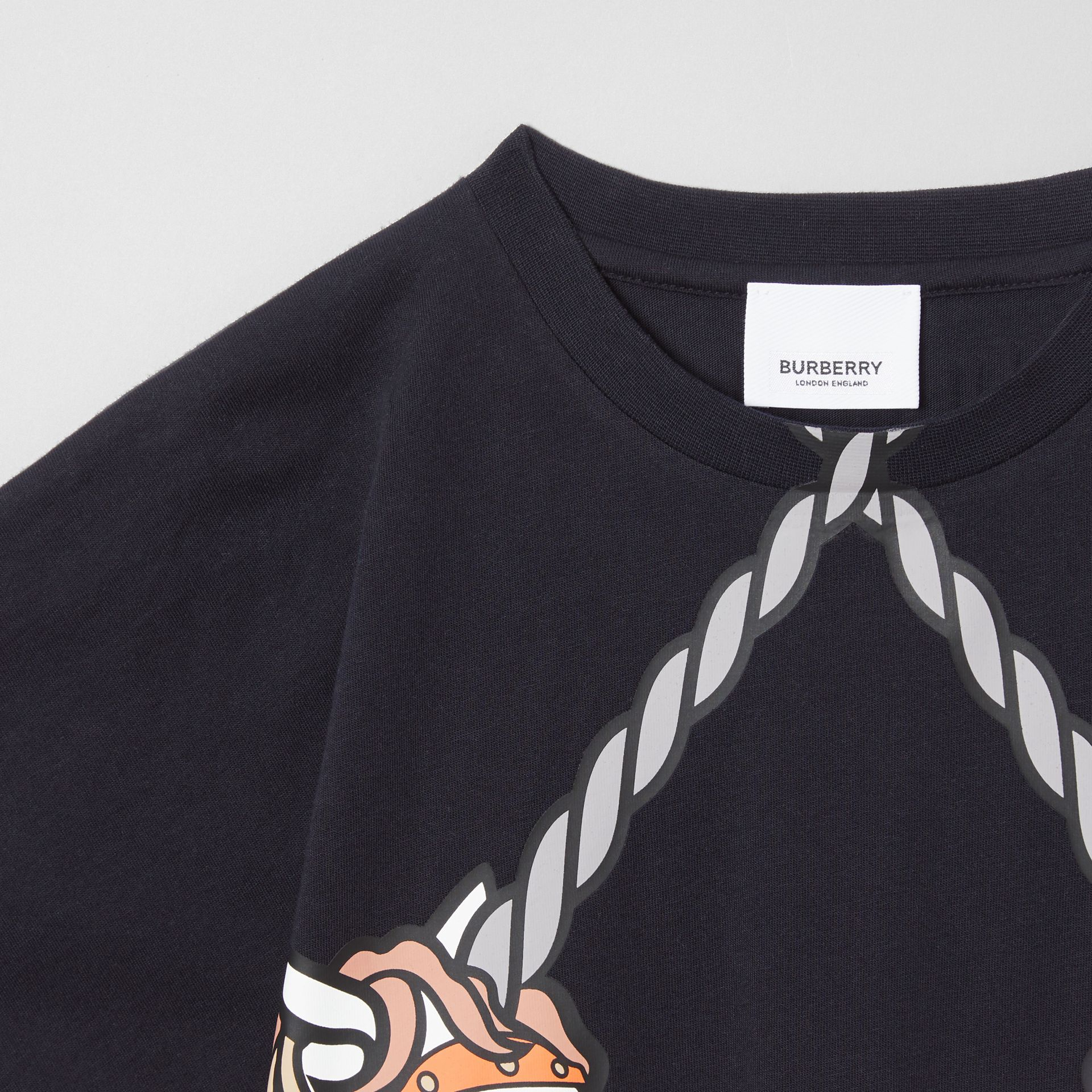 Unicorn Print Cotton T-shirt in Ink   Burberry United Kingdom - gallery image 4
