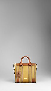 Medium Colour Block Leather Tote Bag