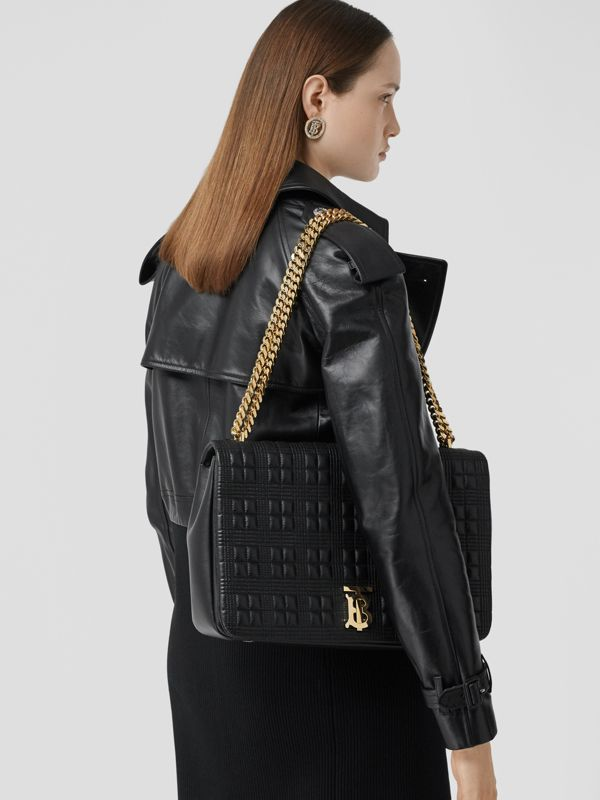 Extra Large Quilted Lambskin Lola Bag in Black - Women | Burberry - cell image 2