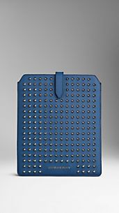 Studded Colour Coated London Leather IPad Case