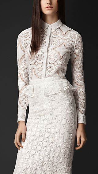 English Lace Fitted Shirt