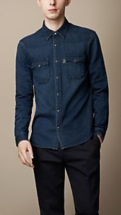 Camicia in denim sovratinto
