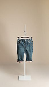 Check Cuff Denim Jeans