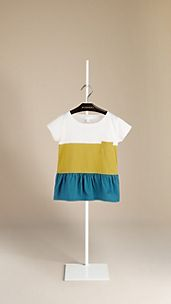 Colour Block Cotton T-Shirt