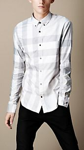 Check-Hemd mit Button-down-Kragen