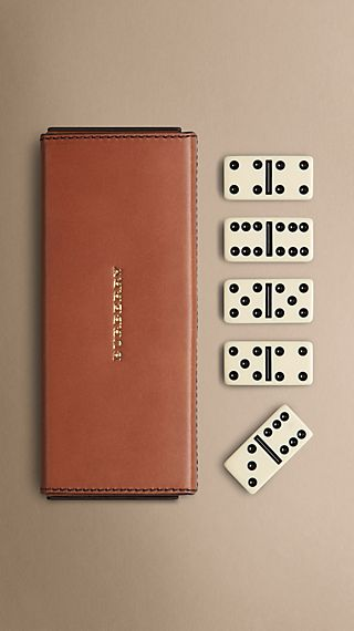 Leather Domino Set
