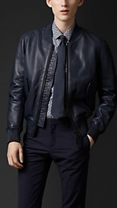 Sculptural Leather Bomber
