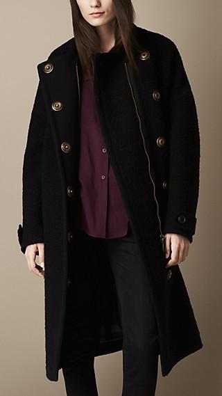 Oversize Textured Wool Coat