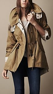 Oversize Technical Cotton Parka