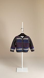 Fair Isle Cashmere Cotton Cardigan