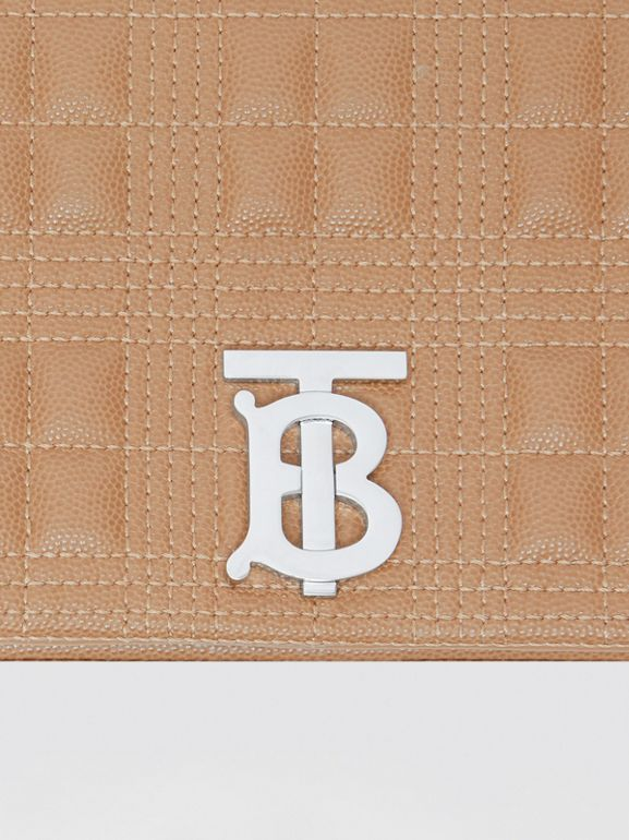 Small Quilted Grainy Leather Lola Bag in Camel/palladium | Burberry United Kingdom - cell image 1