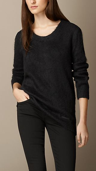 Brushed Mohair Blend Sweater