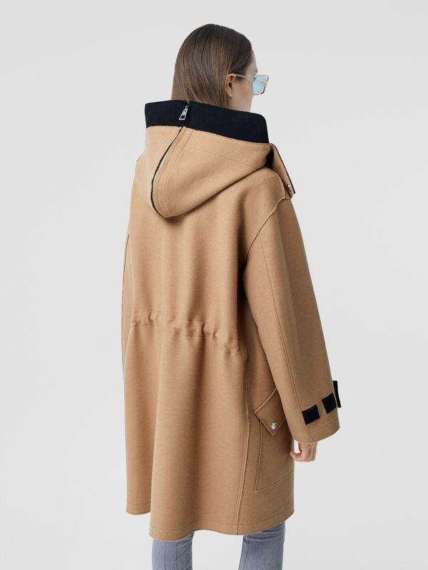 Logo Appliqué Technical Wool Hooded Parka - Women | Burberry United Kingdom - cell image 2
