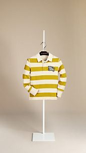 Rugby Stripe Cotton Polo Shirt