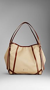 Large Cotton Gabardine Tote Bag
