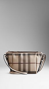 Small Smoked Check Saddle Stitch Crossbody Bag