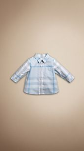 Washed Check Cotton Shirt