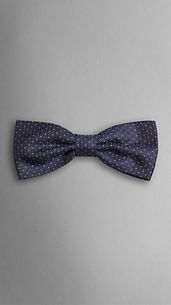 Dot Pattern Silk Bow Tie