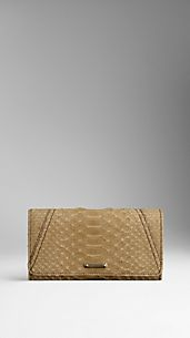 Python Leather Continental Wallet