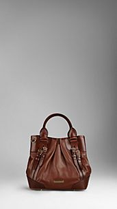 SMALL BRIDLE LEATHER BELTED TOTE BAG