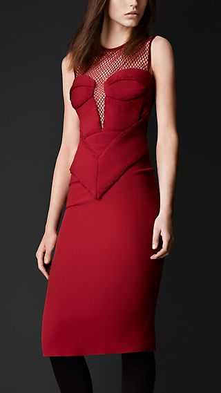 Engineered Body Silk Crêpe Dress