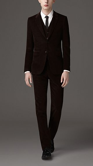 Slim Fit Corduroy Suit