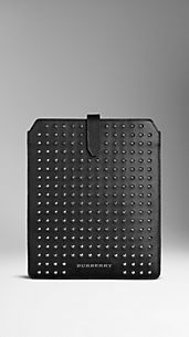 Studded London Leather IPad Case