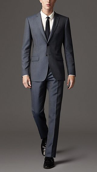 Modern Fit Wool Silk Suit
