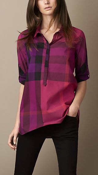 Check Cotton Tunic