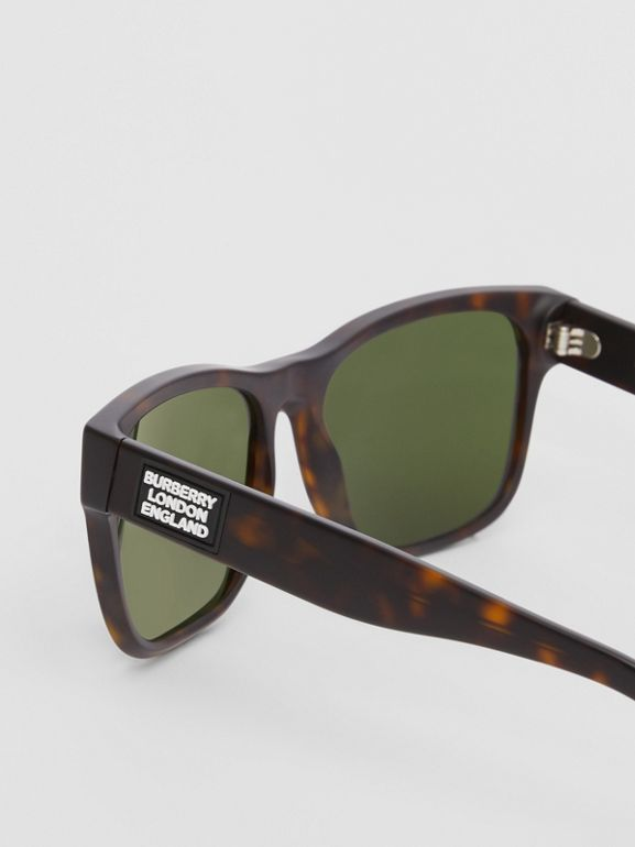 Óculos de sol com armação quadrada e logotipo (Casco  Tartaruga) | Burberry - cell image 1