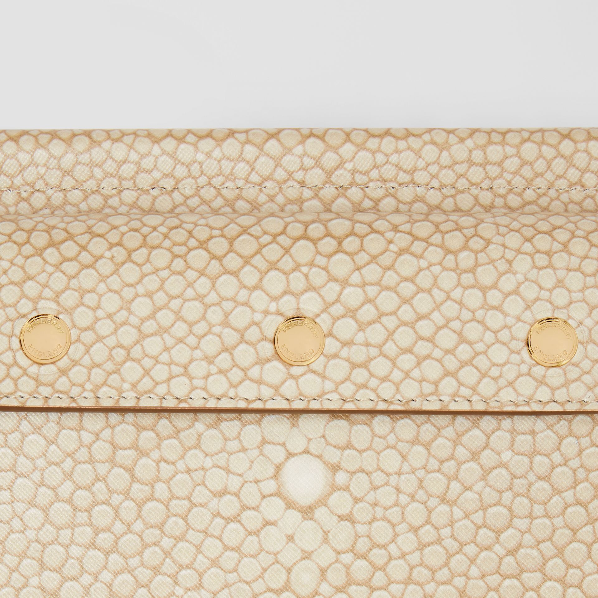 Mini Fish-scale Print Title Bag with Pocket Detail in Light Sand - Women | Burberry - gallery image 1