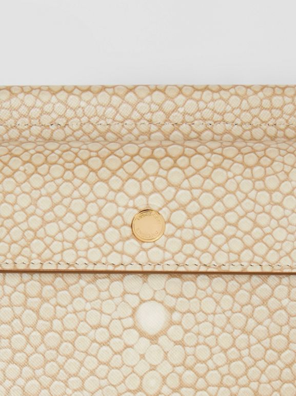 Mini Fish-scale Print Title Bag with Pocket Detail in Light Sand - Women | Burberry - cell image 1
