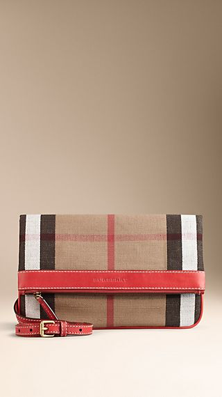 Brit Check Foldover Crossbody Bag