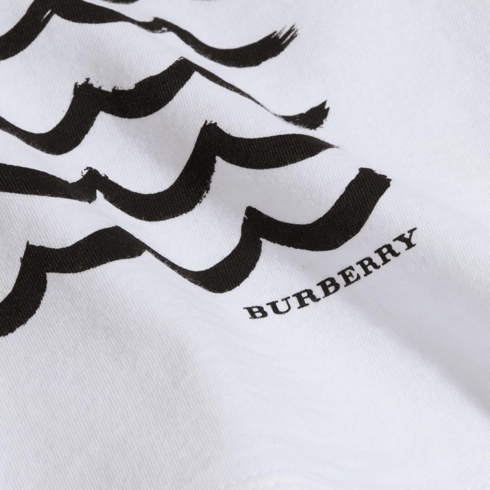 波纹眼睛图案印花棉质 t 恤衫 产品图片11