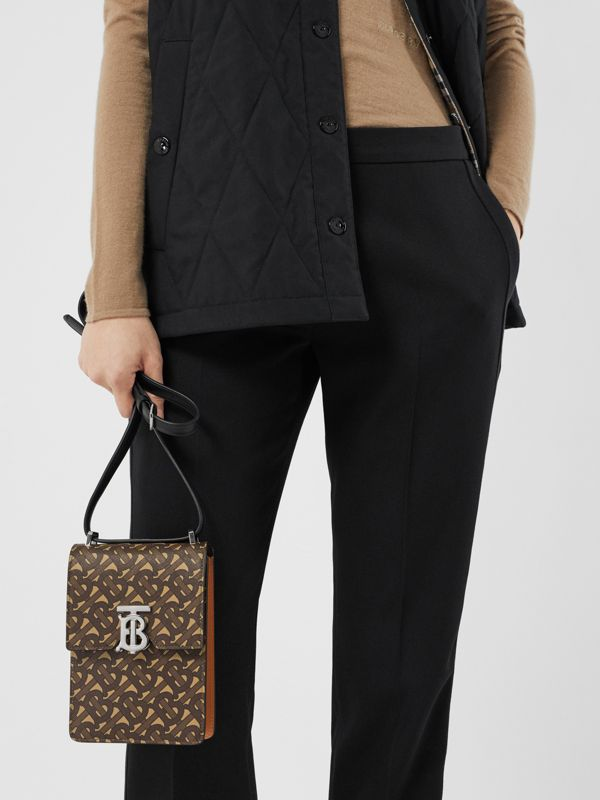 Monogram Print E-canvas Robin Bag in Bridle Brown | Burberry - cell image 2