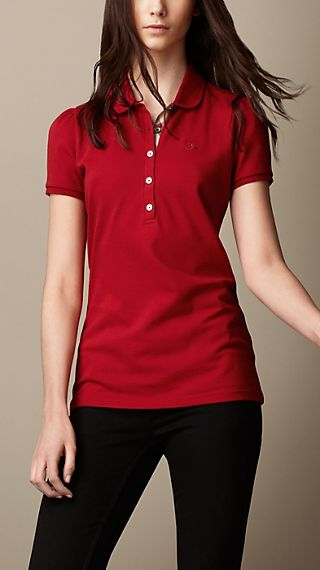 Check Placket Polo Shirt