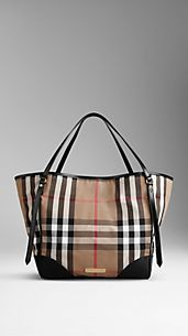 Medium Bridle House Check Tote Bag
