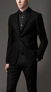Slim Fit Herringbone Jacket