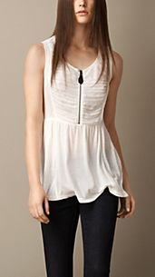 Ruched Georgette Vest
