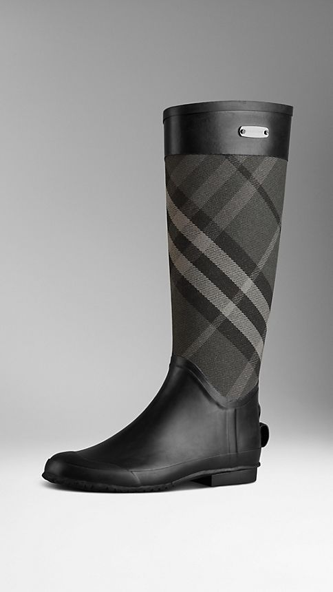 Sale alerts for Burberry Check Panel Rain Boots - Covvet