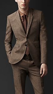 Veste en tweed de coupe étroite